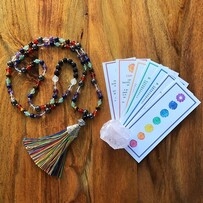 Healing Chakra Mala: 108 Beads Hand Tied with Love