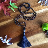 I am Strong & Grounded, Smoky Quartz Mala