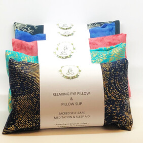 Amethyst Infused Relaxing Eye Pillow & Pillow Slip